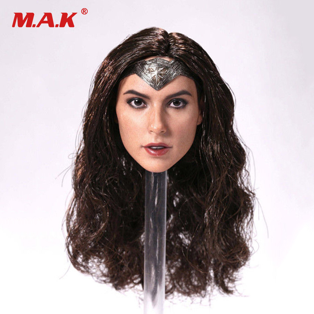 hot toys 1/6 Scale Wonder Woman Female Head Sculpt Girl Gal Gadot Head For 12'' PH TBL Body Figures not phantom cam 0904