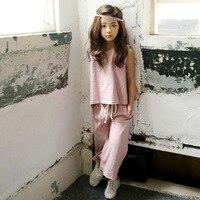 Ubrania dla dzieci zestaw Dzieci ubrania letnie dziewczyny nowe bawełniane koszule + spodnie kostiumem zestawy pasujące stroje matka córka rodziny
