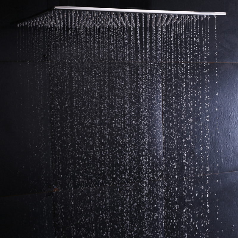 Ceiling Mounted Rainfall Shower Head 304SUS Big Rain Shower Bathroom 20 Inch Shower Panel Without LED Showers With 4 Shower Arms new design bath electric led ceiling recessed rainfall shower head 304sus bathroom accessories douche overhead shower panel