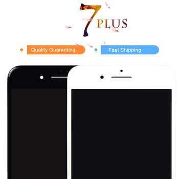 5pcs AAA For iPhone 7 Plus 7+ LCD Black White 100% Test No Dead Pixel For iPhone 7P Screen Digitizer Assembly Replacement +Gifts