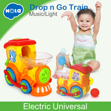New Baby Toys Electric Universal Moving Train with Chasing Balls Activity, Light, Talks and Sings Kids Learning Educational Toys