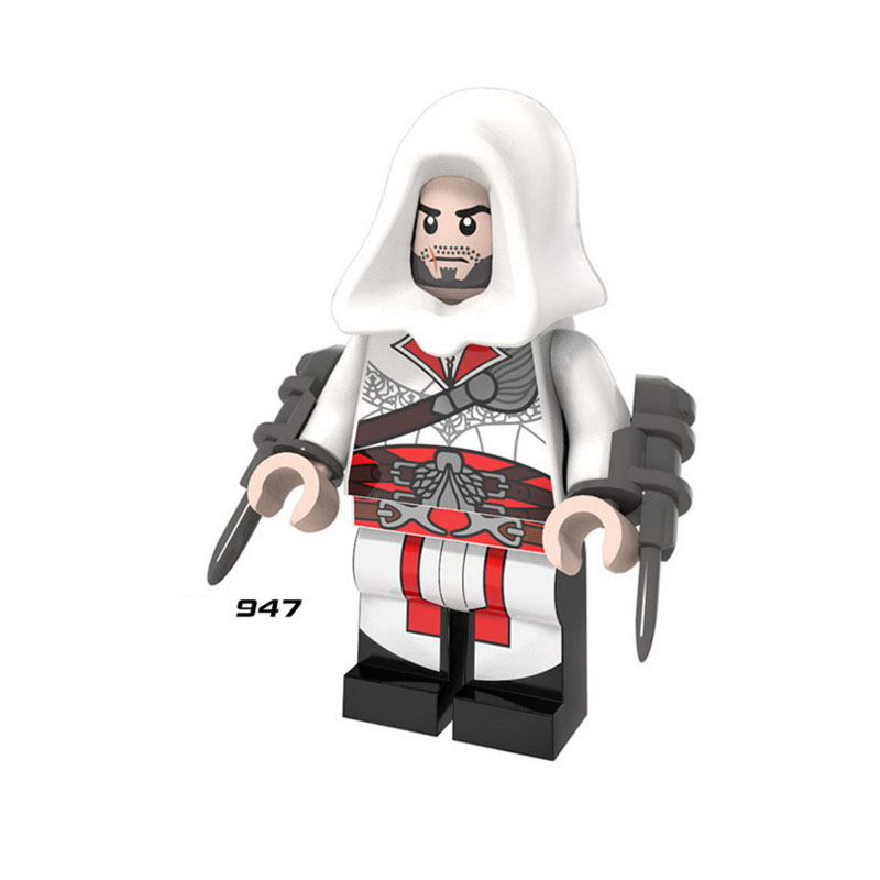 Single Sale 947 ASSASSIN Ezio Auditore Da Firenze Building Blocks Figure Bricks Toys Kids Gift