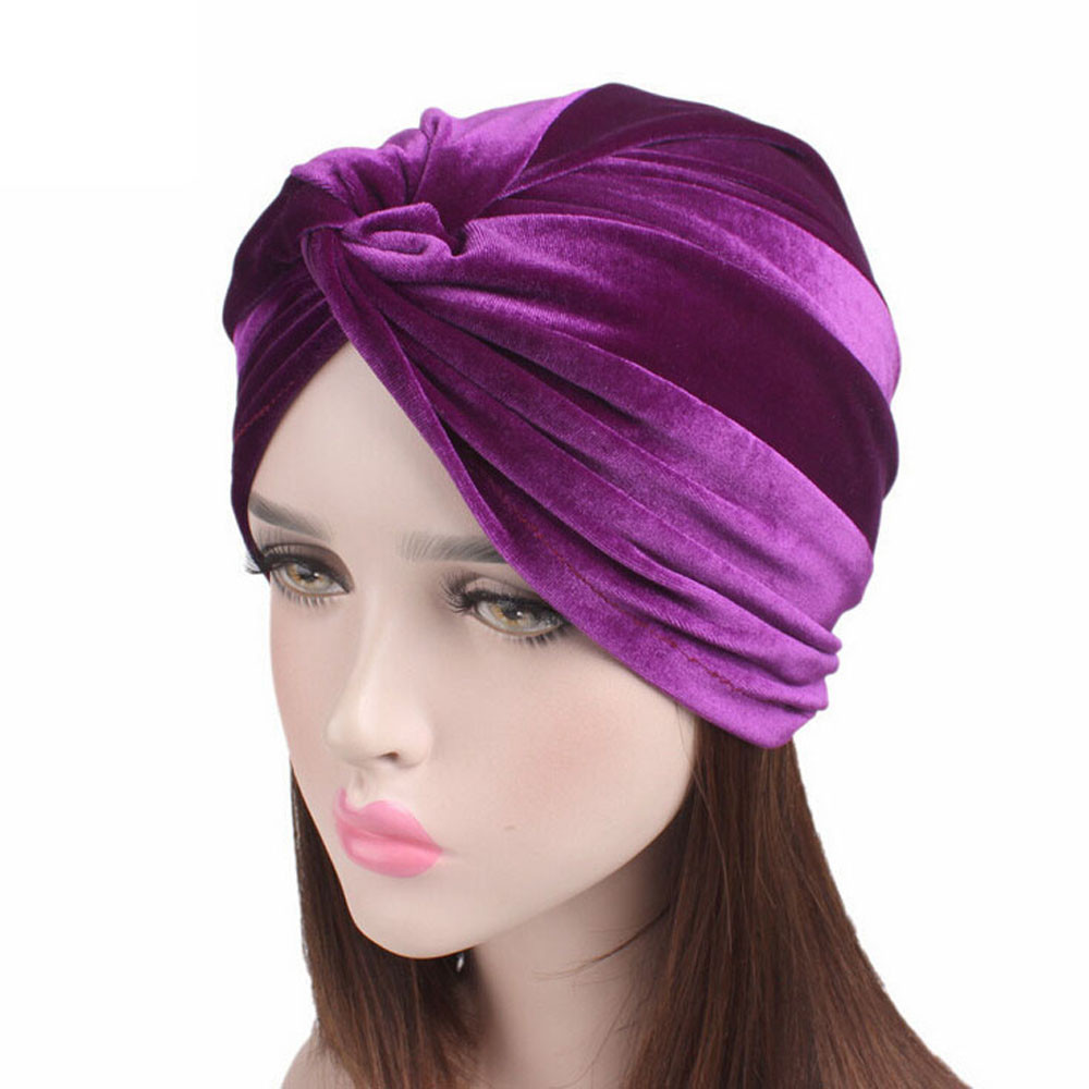 3cc797c519704 ... Velvet Warm hat women s winter hats Cancer Chemo Hat Beanie Scarf  Turban Head Wrap Cap balaclava ...