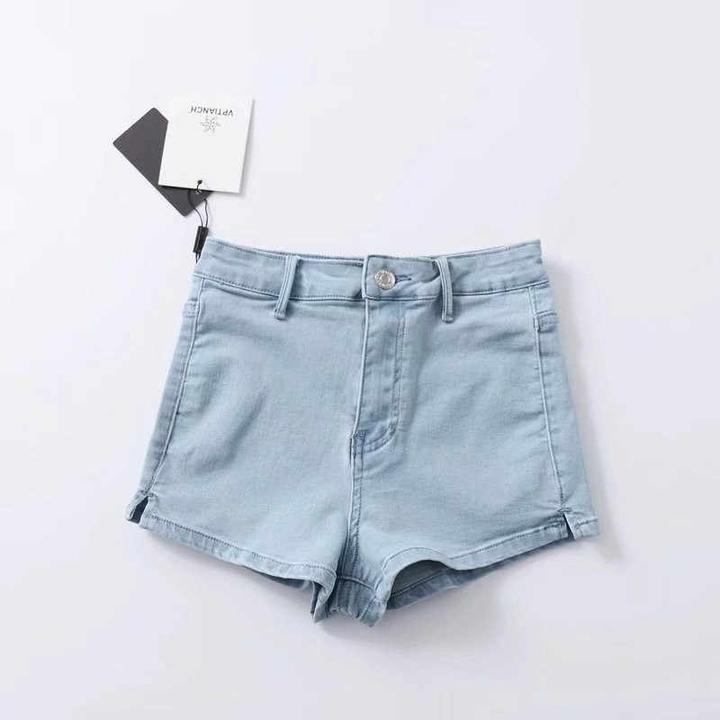 337fa6f58 ... Women High Waist Denim Shorts Stretch Tight Sexy Hem Split Jeans Shorts  Summer Soft Thin Shorts ...