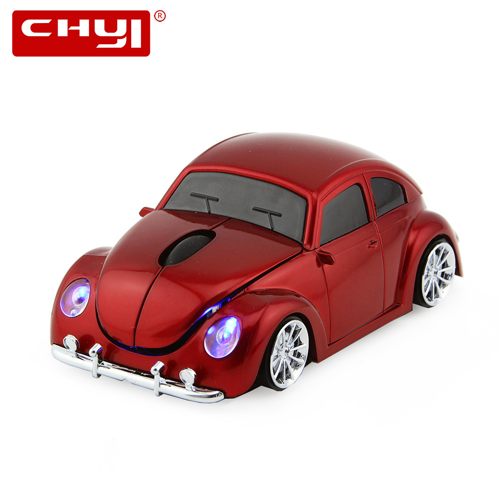 Vendita calda Wireless Mouse Sport Car A Forma di 2.4 Ghz Ottico VW Beetle Car Mause 1600 DPI Gioco Topi Per PC Laptop Computer Rosso Blu