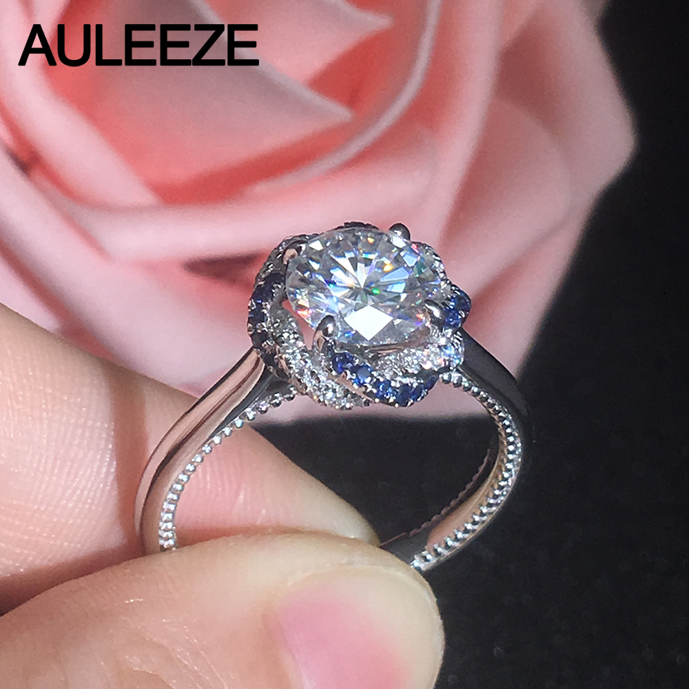 Fine Jewelry Classic 2CT Moissanites Diamond Gold Engagement Ring ...