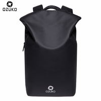 OZUKO New Design Waterproof Men Backpacks Anti Theft USB Charge Creative Casual Travel Bag Multifunctional 15