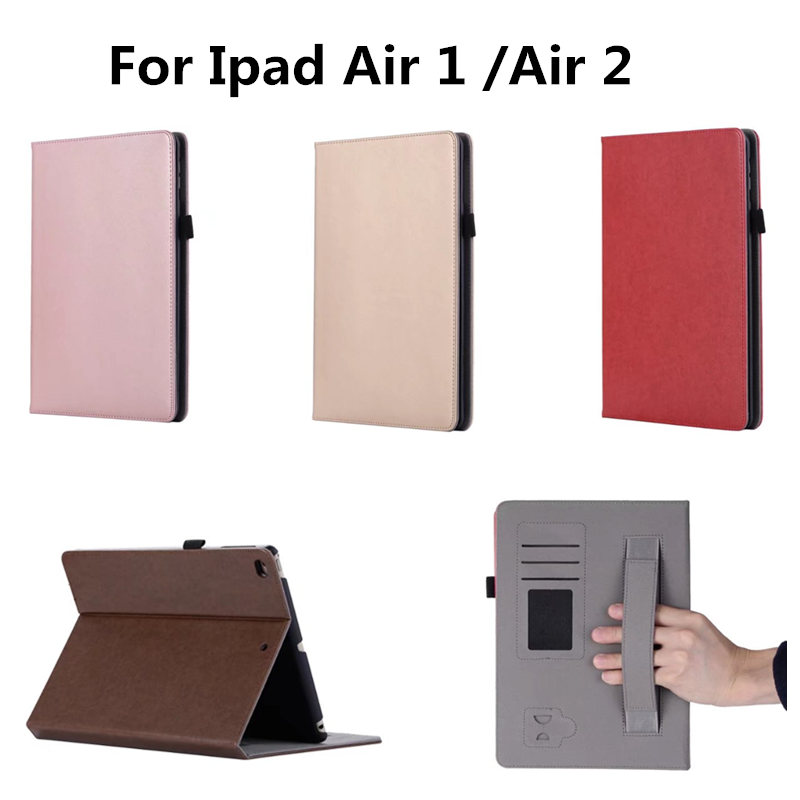 Skin For iPad Air 2 Case Book Premium PU Leather Stand Case Smart Auto Wake/Sleep Cover for iPad Air 1 2  New iPad 9.7 2017 for apple ipad air 2 case air2 ii flip litchi pu leather wake up sleep cover for new ipad 6 air 2nd with smart stand holder