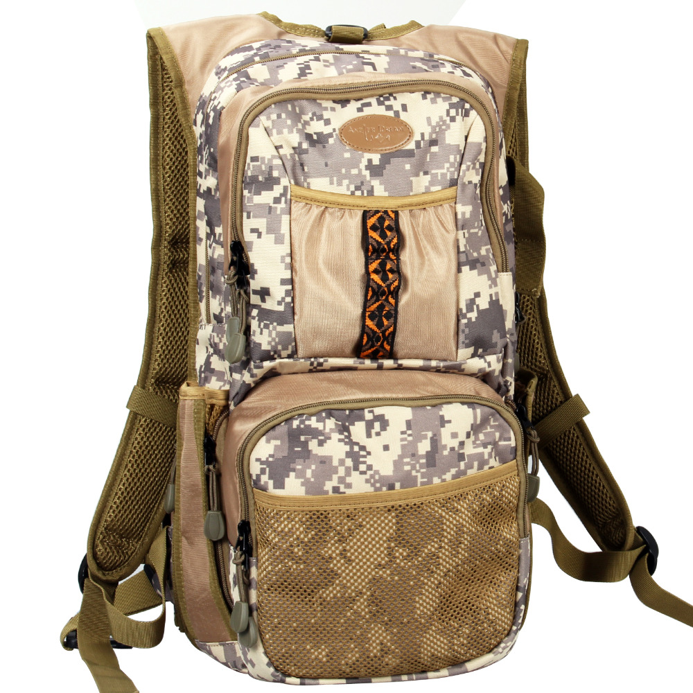 Camo Fishing Back Pack Adjustable Size Fly Fishing Backpack Camo Fly Fishing Vest Multi Pocket Sports Outdoor  Pack Bag цена 2017