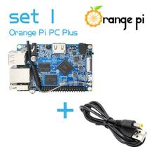 Orange Pi PC Plus SET1: orange Pi PC Plus + USB zu DC 4,0 MM 1,7 MM Power Kabel