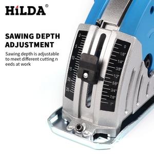 Image 2 - HILDA Mini Elektrische Kreissäge DIY Multifunktionale Elektrische Saw Power Tools dreh werkzeug kreissäge blätter für holz