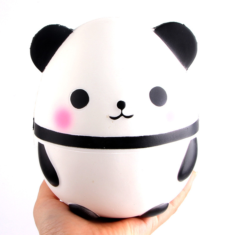 Kawaii Squishy 12cm Jumbo Cute Panda Bear Slow Rising Soft Squeeze Straps Crean Scented Bread Cake Decor Toy Kid Fun Gift Modern Techniques