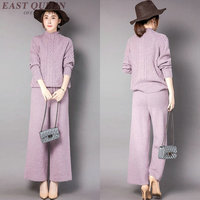 Knitted tracksuit women fashion knitted things 2 piece set women pant suit AA3148 Y