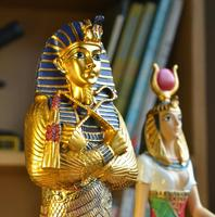 Egypt Pharaoh Resin Craft Decorative Figurines Egyptian Pharaoh Statu Craft Christmas Home Decoration Pyramid Resin Craft Gifts