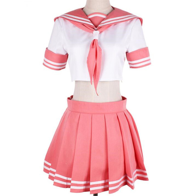 720a4b29f Anime Fate/Apocrypha Servant Astolfo Cosplay Costumes Women Sexy Sailor  Suit Pink