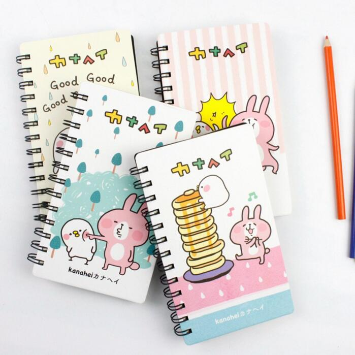 Cute Kanahei Rabbit Coil Book Vocabulary Notebook Word Diary Notepad Hand Memo Book pink pineapple cute notebook diary hand memo study journal coil spiral notepad