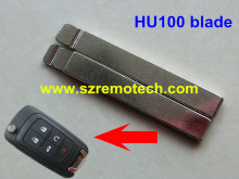10pcs/lot New Unuct Remote Flip Key Keyless Replacement Flip HU100 Blade Blank Fit For GM Buick Switchblade