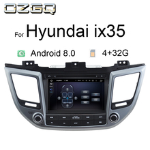 цена на OZGQ Radio Car Android 8.1 8.0 System 8'' Touch Screen 32G Multimedia Navigation For Hyundai IX35 2015-  Support GPS Car Stereo