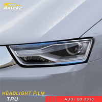 ANTEKE for Audi Q3 2016 2017 2018 Car Styling Front Light Lamp Headlight Cover Trim Film Sticker Exterior Accessories