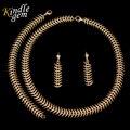 Charme Banhado A Ouro Brincos Pulseira Conjuntos de Jóias Para As Mulheres Africanas Colar Longo de Todos Os Jogo Vestido de Festa Acessórios