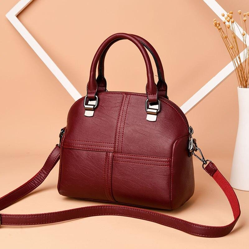 High Quality Patchwork Shoulder CrossBody Bags Fashion Soft Sheepskin Leather Women Bags Women's Genuine Leather Handbags