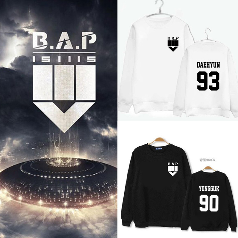 K-pop B.A.P Mini four Series Hoodies BAP New album 2015 Autumn Costume for Men and Women around the concert Sweatshirts image