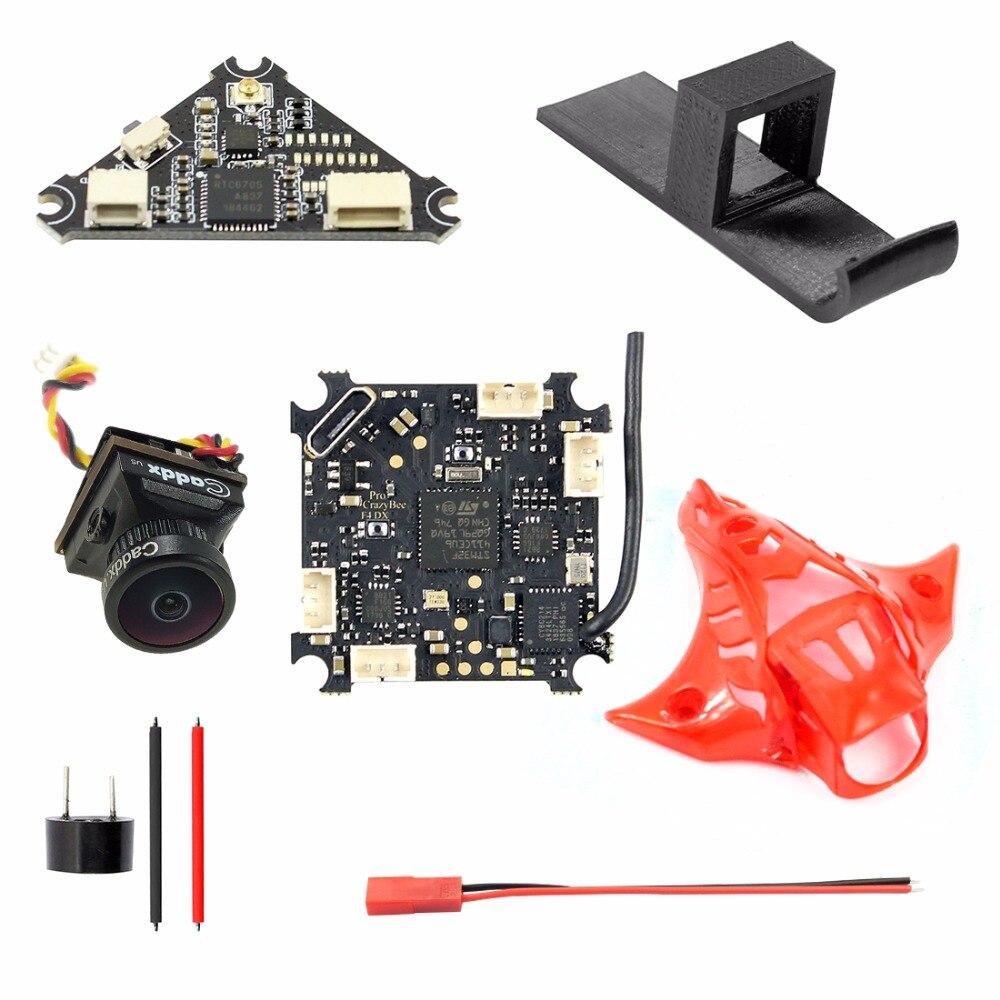 لحام كومبو ل Mobula7 ترقية Crazybee F4 برو وحدة تحكم في الطيران + Caddx 1200TVL FPV كاميرا و للتحويل VTX + جديد مظلة v2-في قطع غيار وملحقات من الألعاب والهوايات على  مجموعة 1