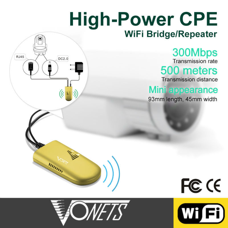 Vonets VAP11G 500 500 Meters commerical wifi repeater Wireless Bridge repetidor wifi inalambrico wifi long distance in Wireless Routers from Computer Office