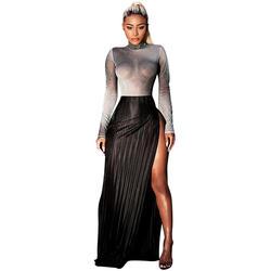 2018 Новая мода из двух частей Для женщин комплект полосой Молния Fly свободные Повседневное длинные штаны в полоску без рукавов топы