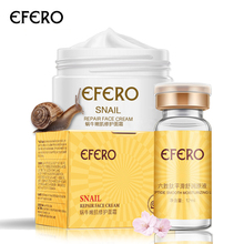 EFERO Snail Face Cream Anti Aging Anti Wrinkle Moisturizer Acne Whitening Cream Six Peptides Face Cream Serum Skin Care стоимость