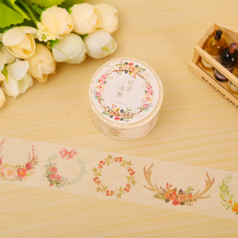 3cm*8m Flowers Blooming washi tape DIY decoration scrapbooking planner masking tape adhesive tape label sticker stationery free shipping 1pcs 6200 ceramic bearing 6200ce 10x30x9 ceramic ball bearing non magnetic insulating high quality