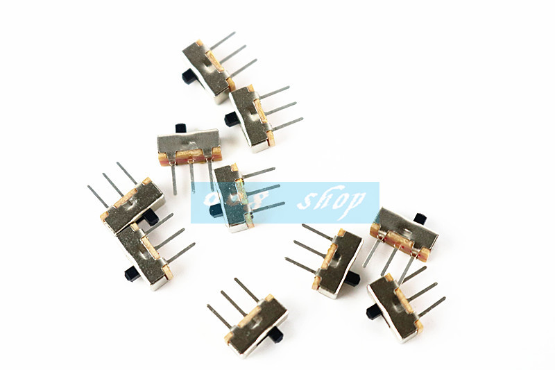 цена на 10PCS SS12D00 SS-12D00 4MM SPDT 1P2T toggle switch Interruptor on-off mini 1 Way 2 Band Slide Switch PCB Mount Free shipping D.