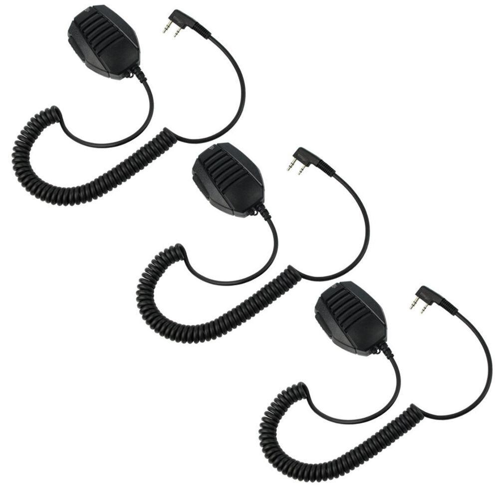 3pcs Finger PTT Motorcycle Helmet Headset Mic for KENWOOD WOUXUN UV5R UV5R 888s