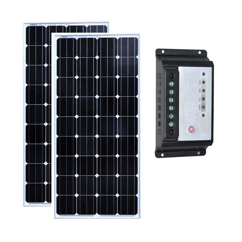 Solar Kit 300w 24v Pannello Solare 12v 150w 2 Pcs Bateria Solar Solar Charge Controller  ...
