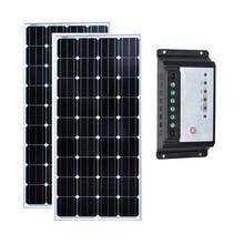 Solar Kit 300w 24v Pannello Solare 12v 150w 2 Pcs Bateria Charge Controller 12v/24v 20A PWM Caravan Motorhome Phone