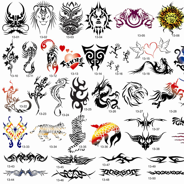 купить [Hot Sale] 53 designs totems Airbrush Tattoo Stencil Template BOOK 13 дешево