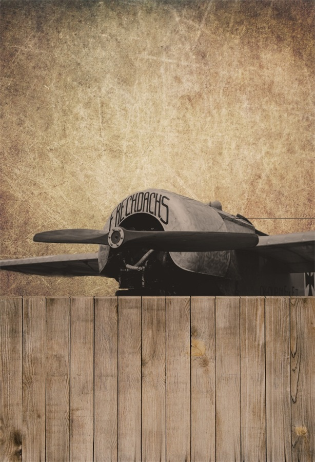 Laeacco Old Propeller Plane Wooden Floor Baby Photography Backgrounds Vinyl Custom Photographic Backdrops For Photo Studio laeacco grunge old wood planks wooden texture baby photography backgrounds vinyl custom photographic backdrops for photo studio