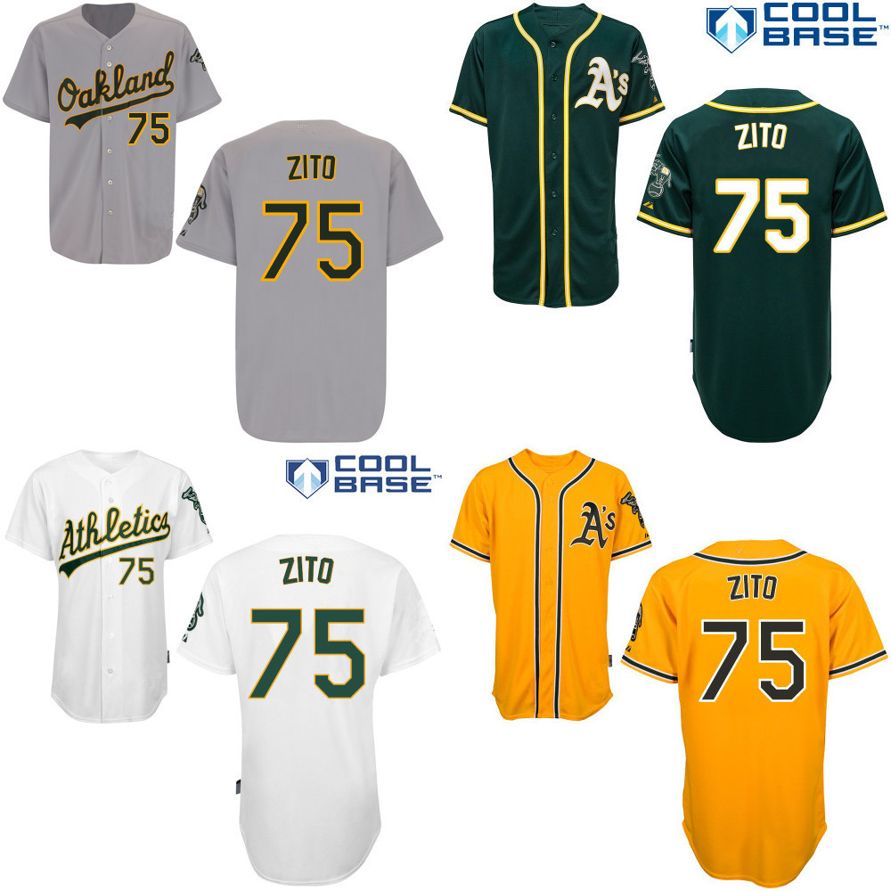 cheap for discount a9627 e5b04 Barry Zito Jersey Home Away White Green Yellow Gary Oakland ...