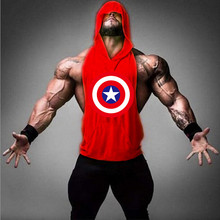 "Captain America sell like hot cakes ZYZZ gold fitness scaffolding hoodies stringer men's health ""hoodies vest gold shark men clo"
