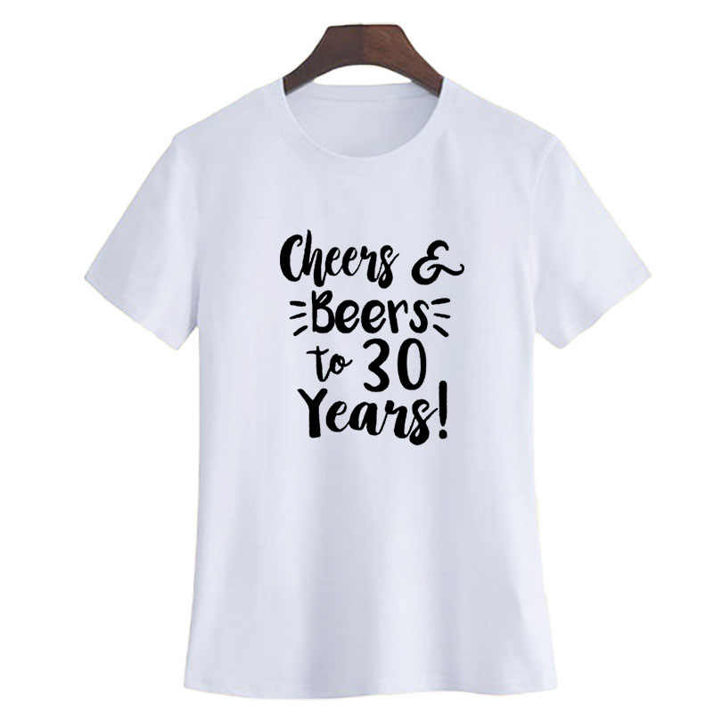 bbce9d5d7 ... Cheers and Beers To 30 Years T-shirt Hipster 30th Birthday Gift for  Women 2018 ...