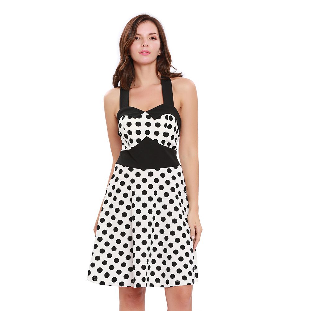 new design young girls office dress working  dot cotton material high quality women clothes good love