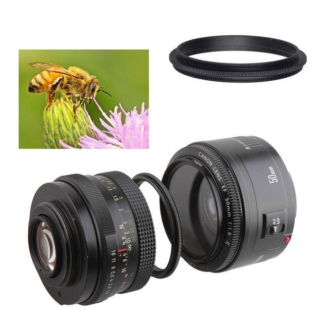 Metall Männlichen gewinde zu Männlichen gewinde 49/52/55/58/62/67/72/ 77/82mm Macro Kamera Objektiv Reverse Adapter Ring (35 modelle bieten wahl)