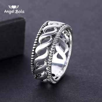 Ancient Silver Color Midi Rotating Decorative Pattern Lucky Gift Women Jewelry Charms Vintage Punk Rock Buddha Rings for Women