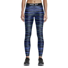 Fashion Stripe Print Leggings Women Fitness Sporting Pants Elastic Slim Legging Sexy 7 Styles Dry-quick Wicking  Female Leggins
