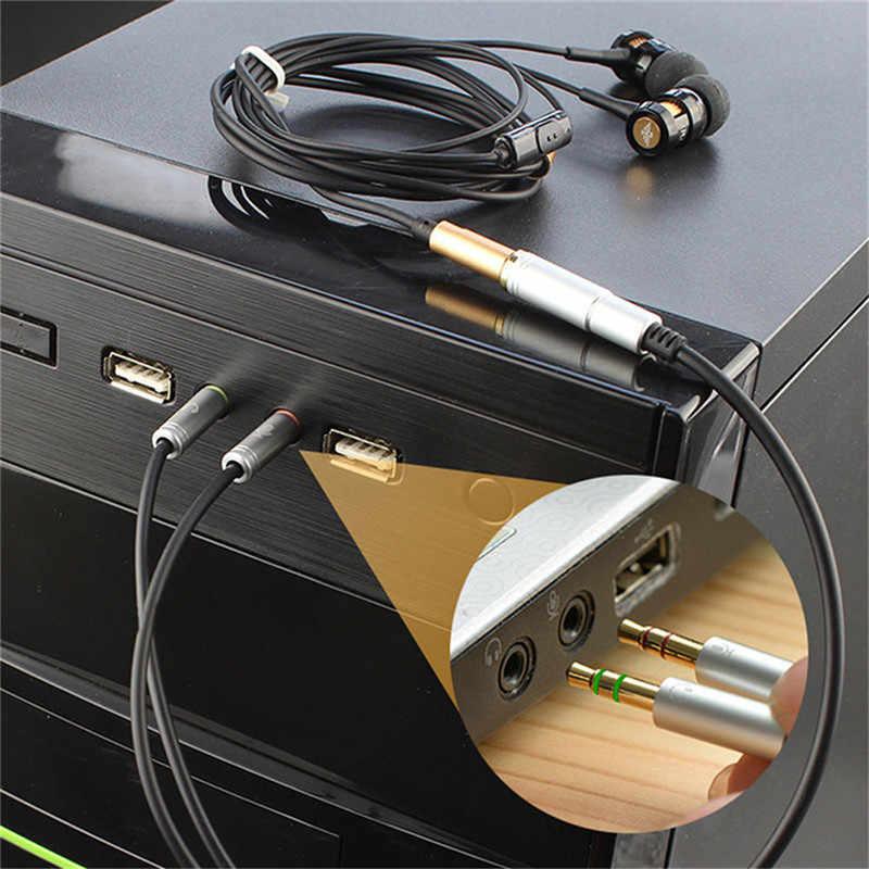 3,5 мм адаптер для наушников конвертер кабель для наушников + микрофон аудио сплиттер Aux удлинитель кабель адаптер Шнур для компьютера ПК микрофон