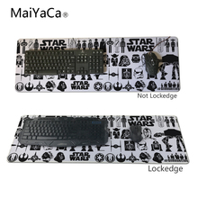 MaiYaCa Newest Star Wars Pad mouse pad Notbook Computer mat 40x90cm Locking Edge Gaming Mouse pads 30x90cm 30x80cm