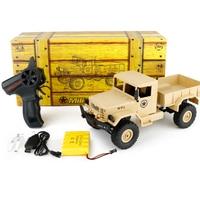 WPL B 1 1 16 Mini Off Road RC Military Truck RTR Four Wheel Drive Metal