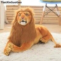 large 60cm prone lion plush toy simulation lion soft doll throw pillow birthday gift s0853