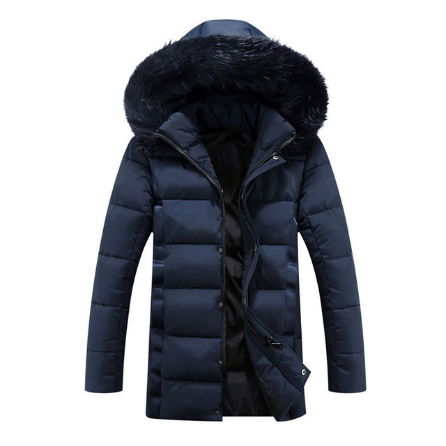 Men's Wadded Jacket Coat Hooded Detachable Hat Long Jacket Casual Warm Cotton-padded Outwear Jaqueta Masculina Plus Size M-5XL