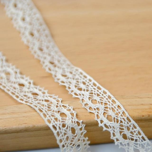 F87 Diy Handmade Cloth Accessories Beige Lace Curtains Of Fine Cotton Garment